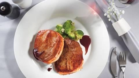 Pulpa de porc cu sos Porto si broccoli sote