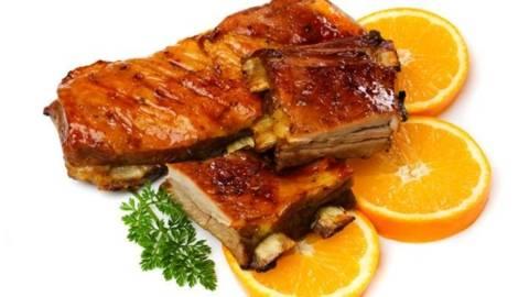 Vitel cu sos de portocale