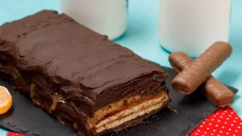 Baton gigant cu biscuiti si caramel