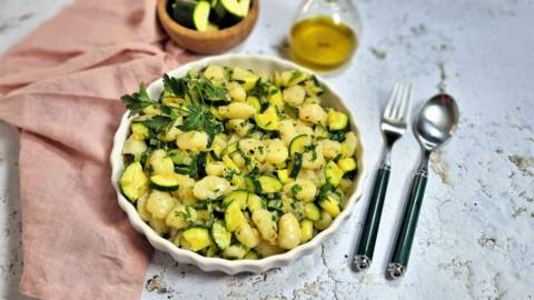 Gnocchi cu zucchini