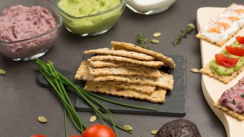 Crackers cu seminte