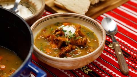 Supa de galbiori