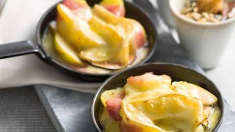 Raclette de iarna cu crema de seminte de dovleac