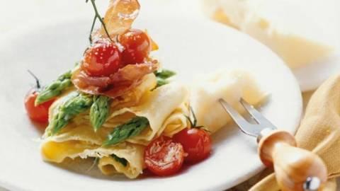 Lasagna cu sparanghel verde