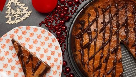 Cheesecake cu ciocolata si rom