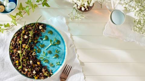 Orez prajit cu legume crocante