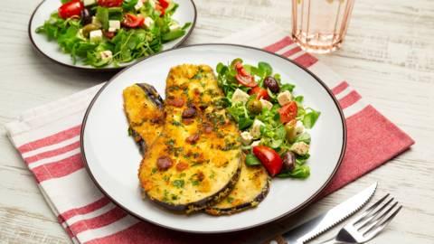 Vinete pane cu salata greceasca