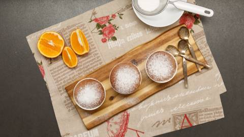 Souffle de ciocolata si portocala