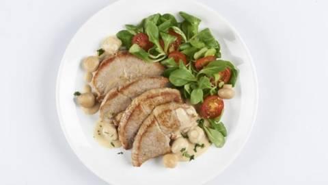 Pulpa de porc cu ciuperci
