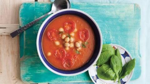 Supa de rosii cu naut