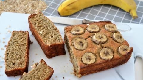 Banana bread fara faina si zahar
