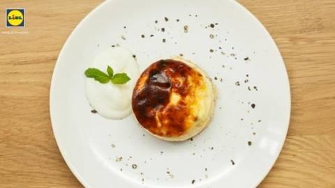 Cheesecake cu menta si mazare