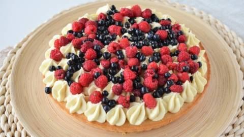 Tarta cu fructe si ciocolata