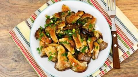 Ciuperci Pleurotus prajite