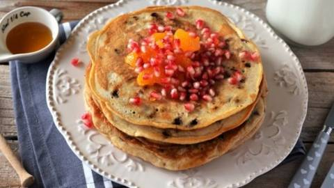 Pancakes cu iaurt grecesc