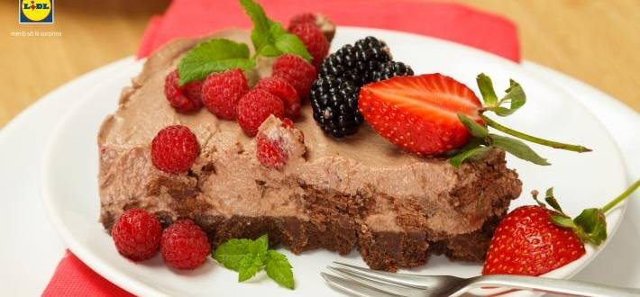 Cheesecake fara coacere cu crema de alune si cacao Choco Nussa