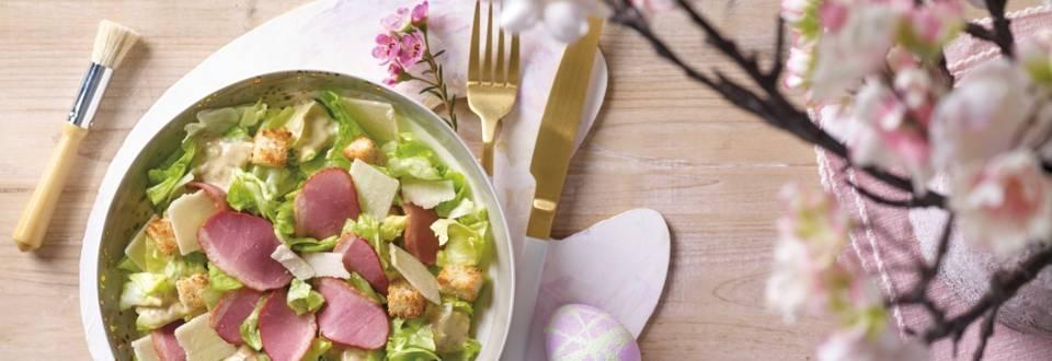 Salata Caesar cu rata afumata