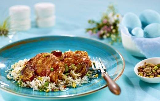 Pui marocan cu orez basmati