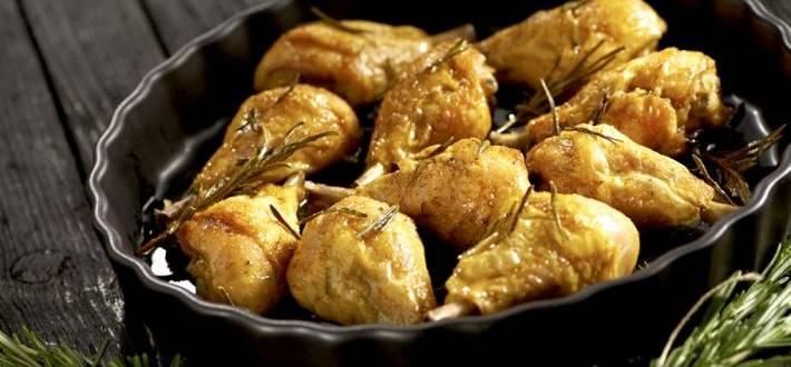 Pulpe de pui cu rozmarin si curry