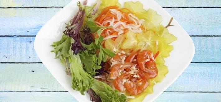 Salata de creveti cu Carambola