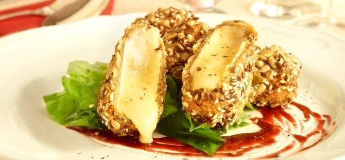 Camembert in crusta eleganta de seminte