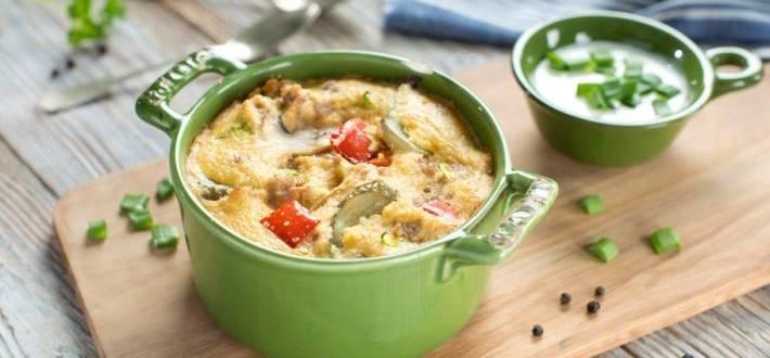 Mix la cuptor din carne tocata cu sos de smantana