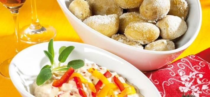 Cartofi iberici cu dip de paprika