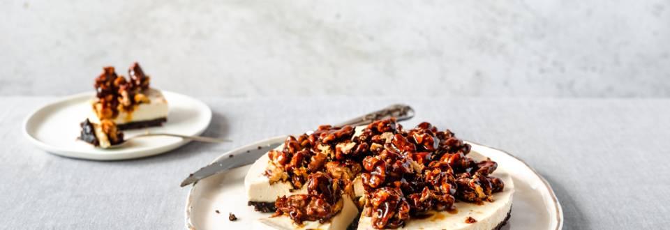 Prajitura cu caju si nuci caramelizate