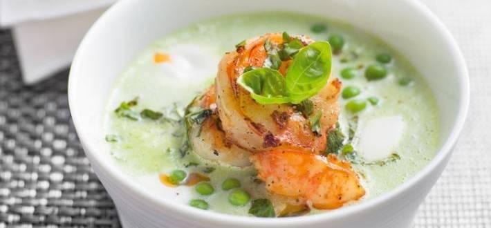 Supa de mazare cu creveti