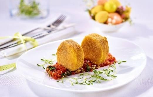 Mozzarella crocanta cu salsa de rosii