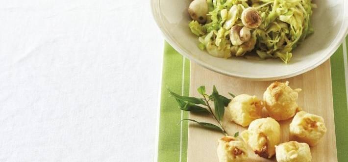 Varza calita cu ghimbir proaspat si tofu tempura