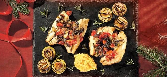 Dorada mediteraneeana cu polenta