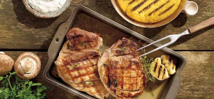 Pulpa de porc cu smantana si sos de busuioc