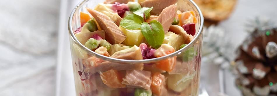 Salata ruseasca cu peste